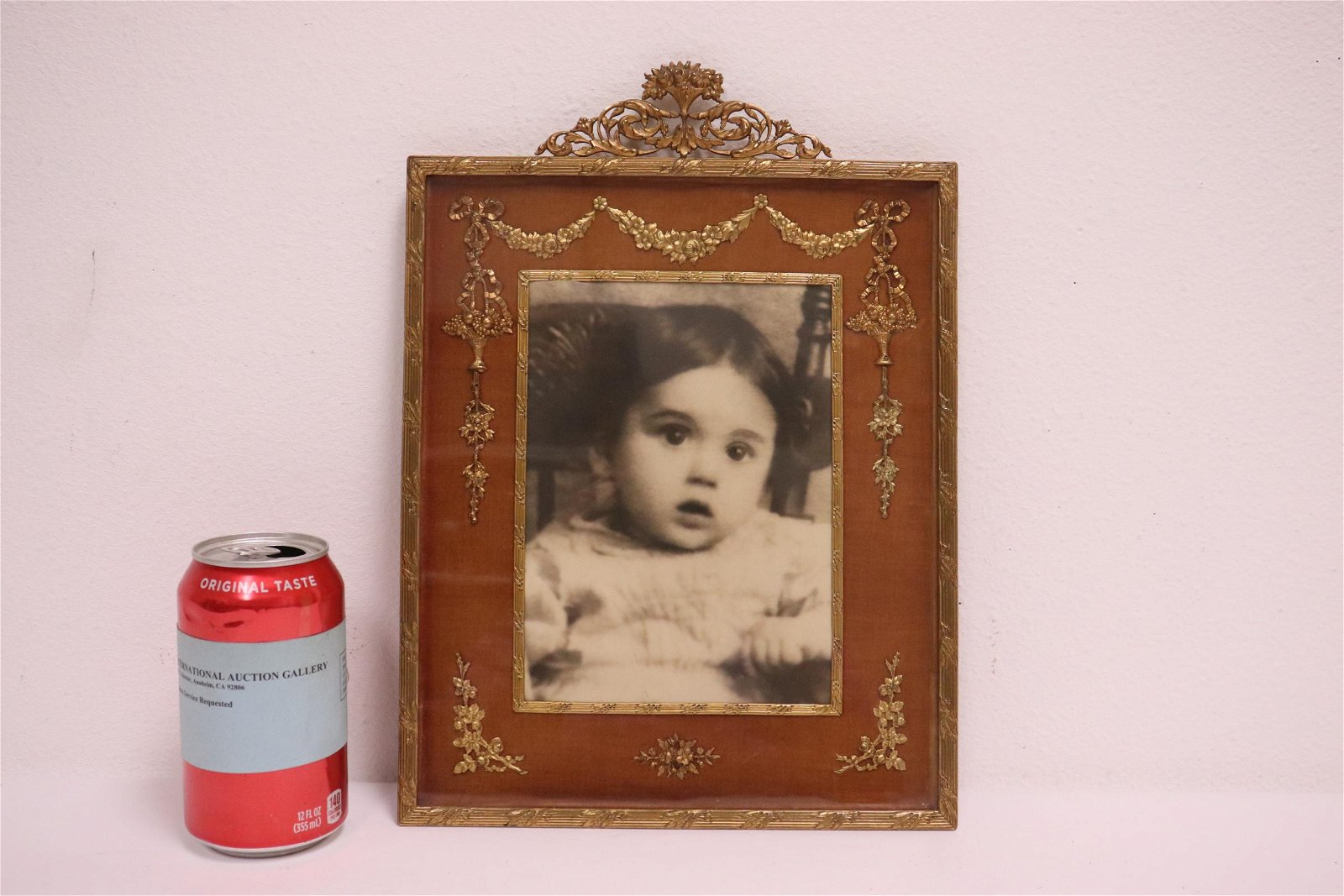 A beautiful antique French gilt metal picture frame
