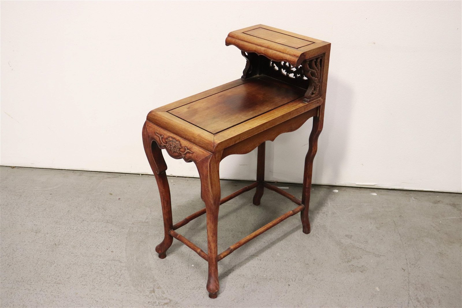 Chinese rosewood 2-tier table