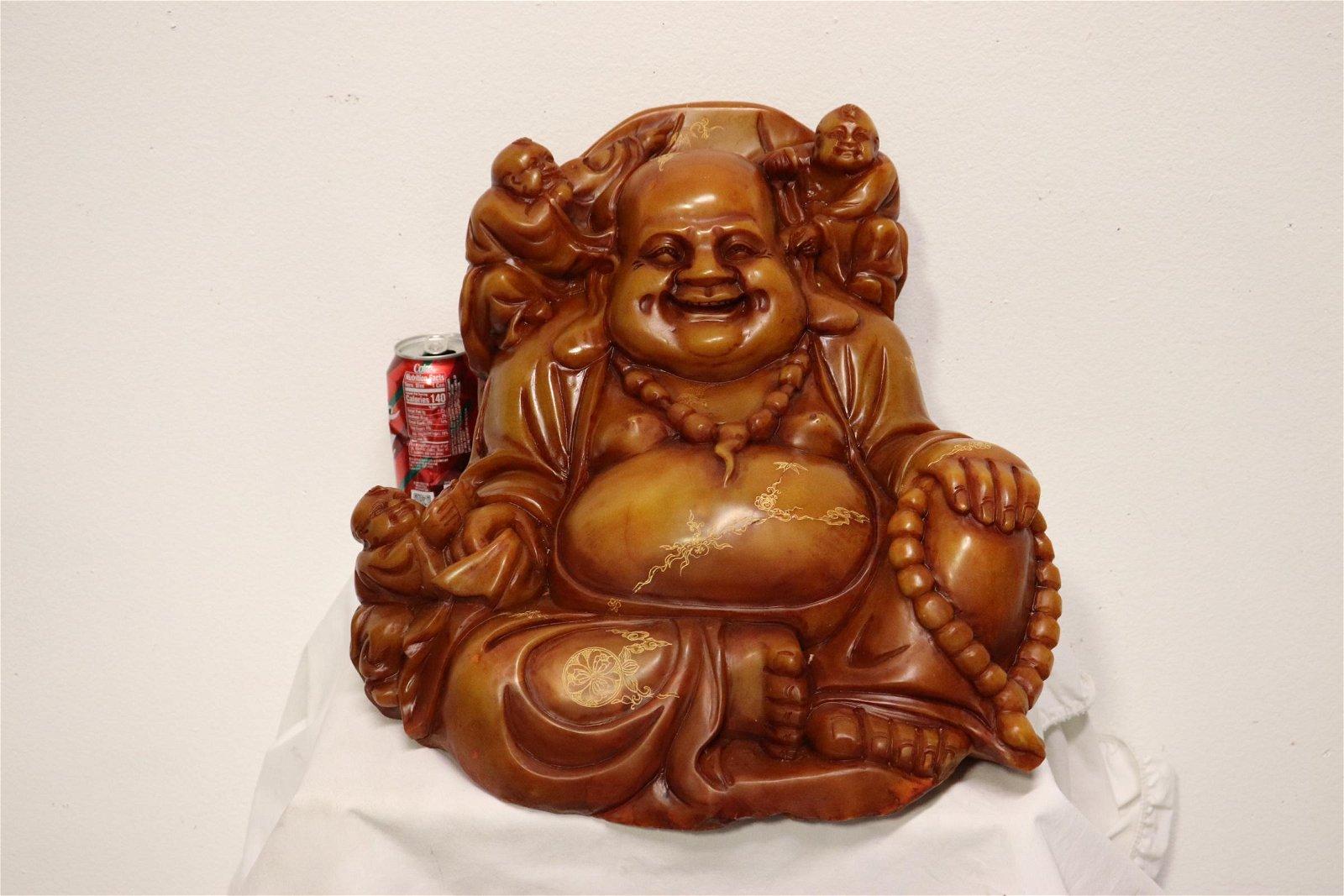 large Chinese shoushan stone carving