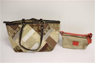 Coach canvas evening bag a Coach makeup purse