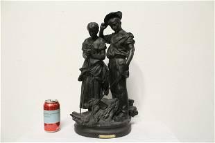 Antique spelter sculpture