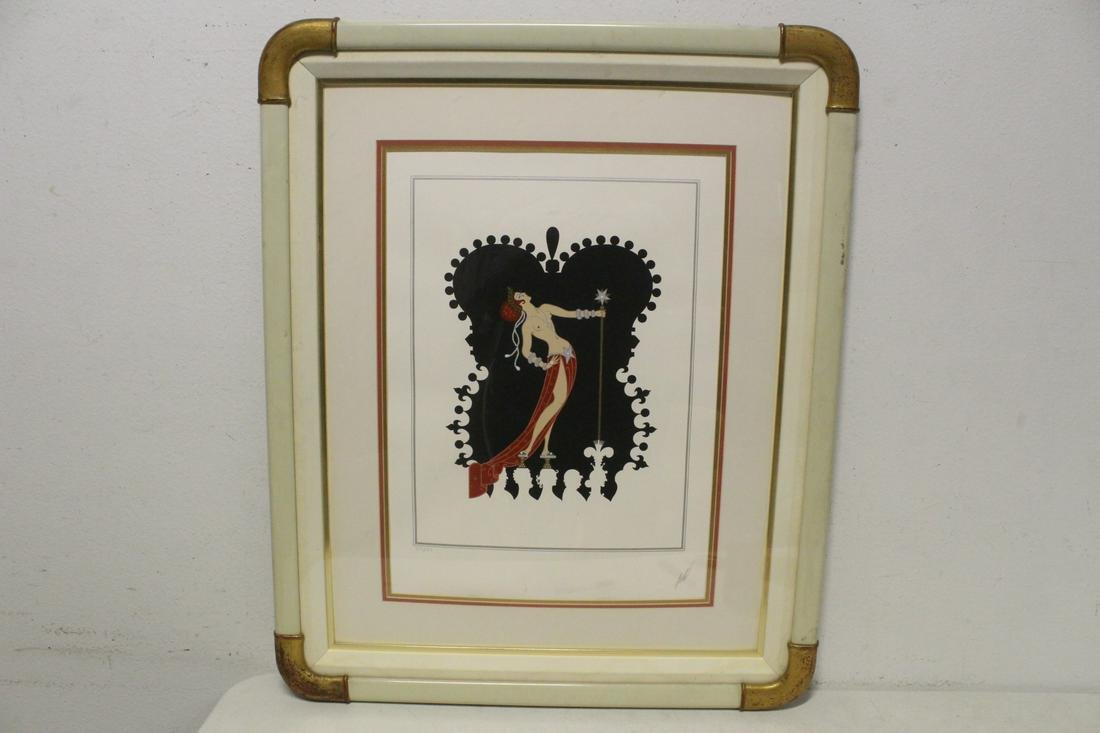 "Lithography ""art deco lady"" by Arte"