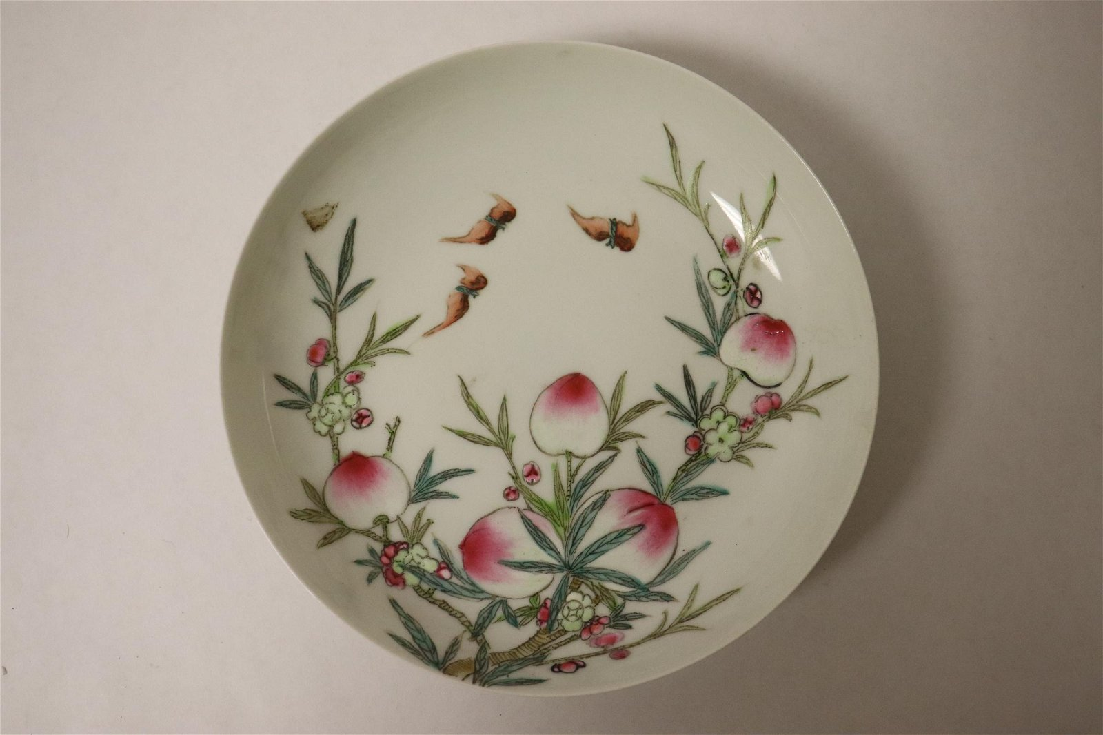 Chinese small famille rose porcelain plate