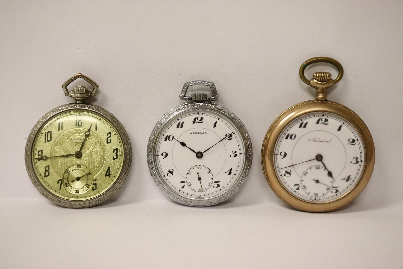 3 Admiral pocket watches