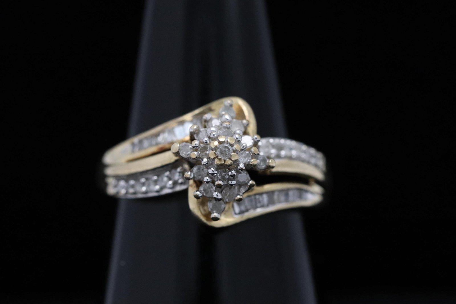 10K Y/G diamond ring
