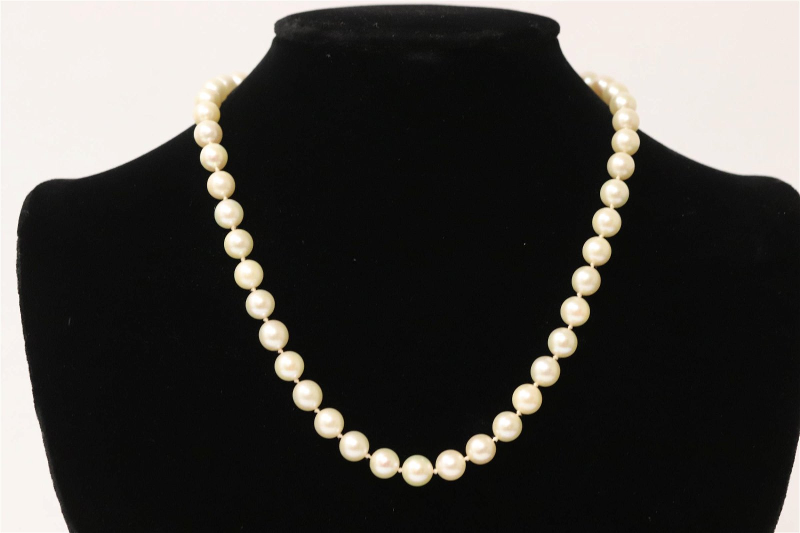 cultured pearl necklace with 14K W/G clasp