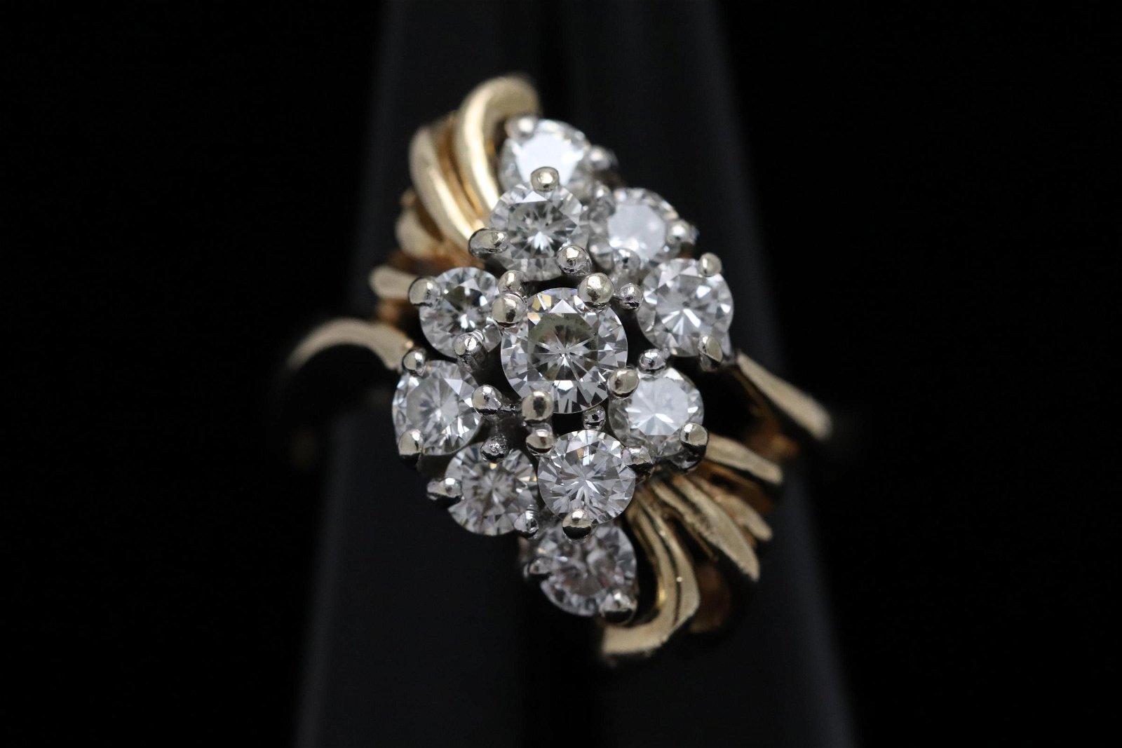 14K Y/G diamond ringsize 6.5