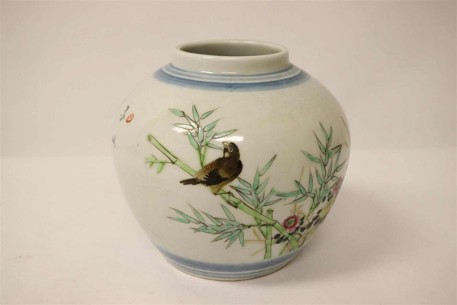 Chinese vintage famille rose small jar