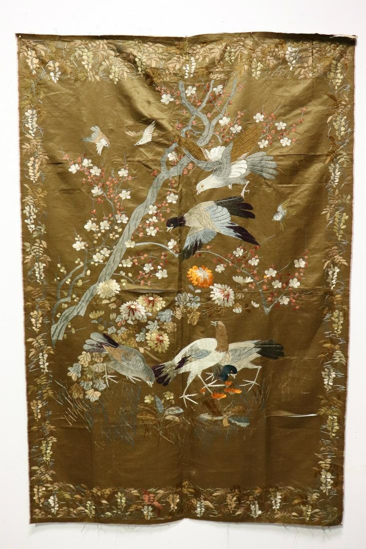 18th/19th c. Japanese embroidery panel