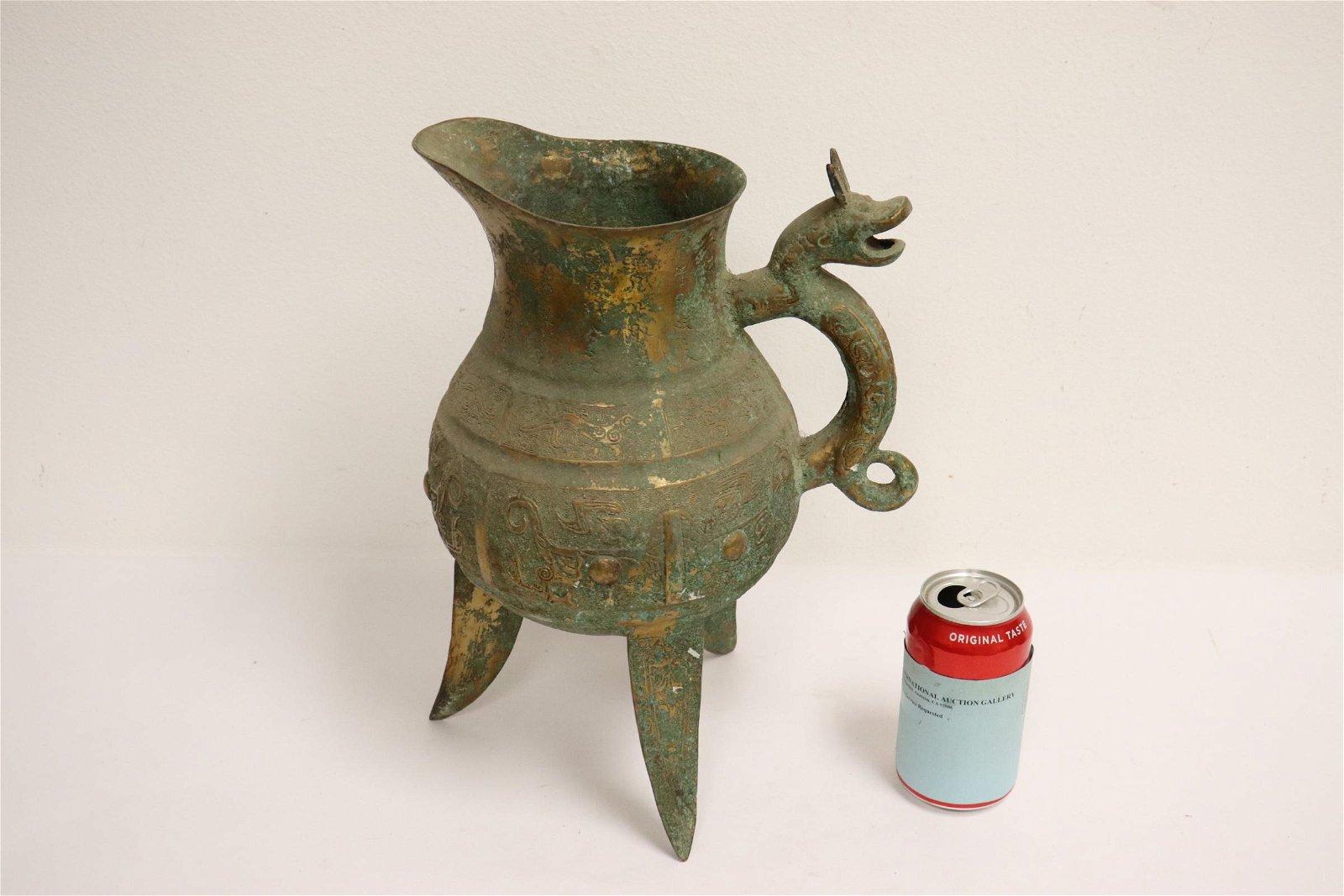 Chinese archaic style tripod wine server