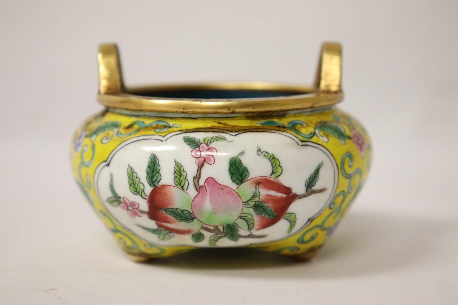 A fine Chinese enamel on bronze small censer