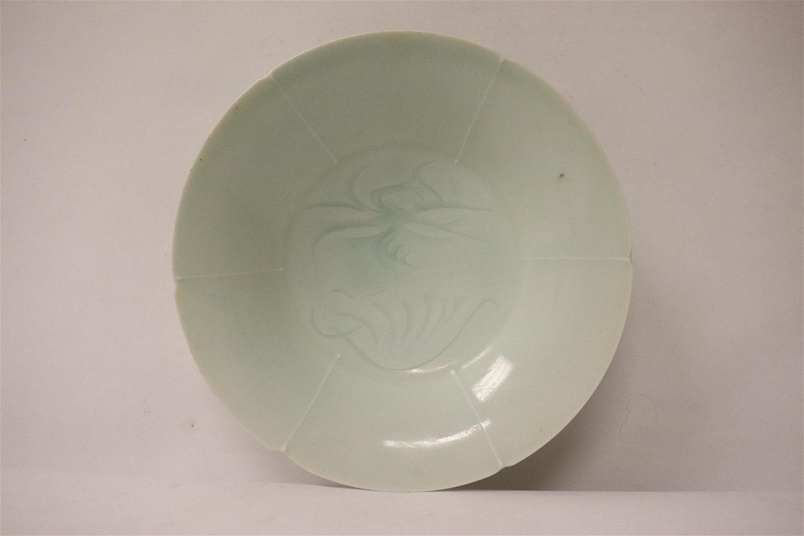 Song style light celadon small porcelain plate