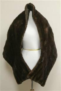 Vintage mink brown stole