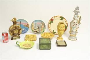 Lot of 50s pottery porcelain pieces