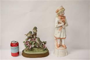 2 bisque sculptures