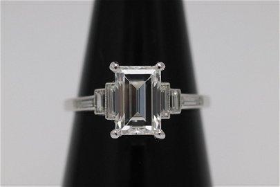 platinum 2.09ct D VVS diamond ring with GIA certificate