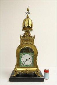Rare Chinese gilt bronze clock  music automaton