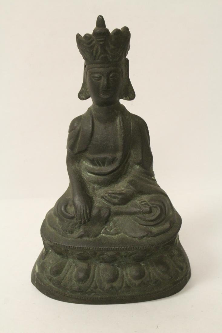 Very heavy Chinese antique bronze sculpture