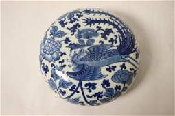 Chinese antique blue and white box