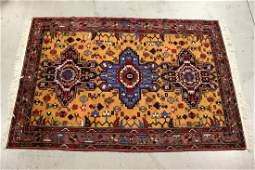 A beautiful Persian area rug in geometric design