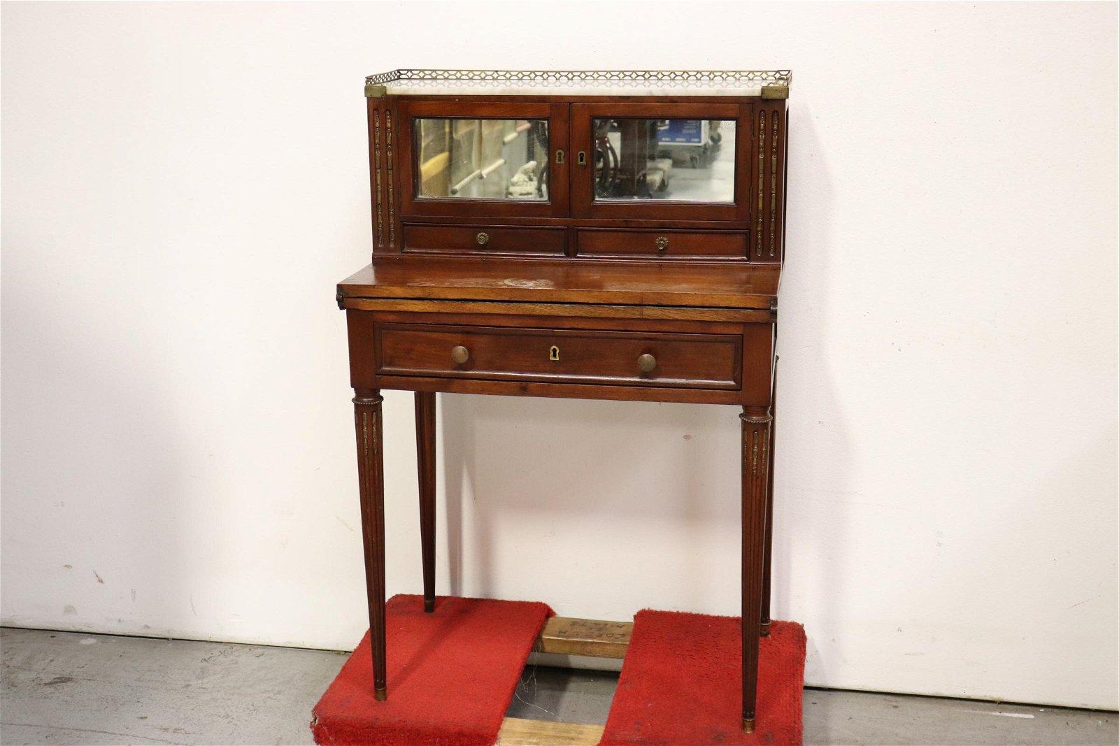 Antique mahogany folding top desk/ cabinet