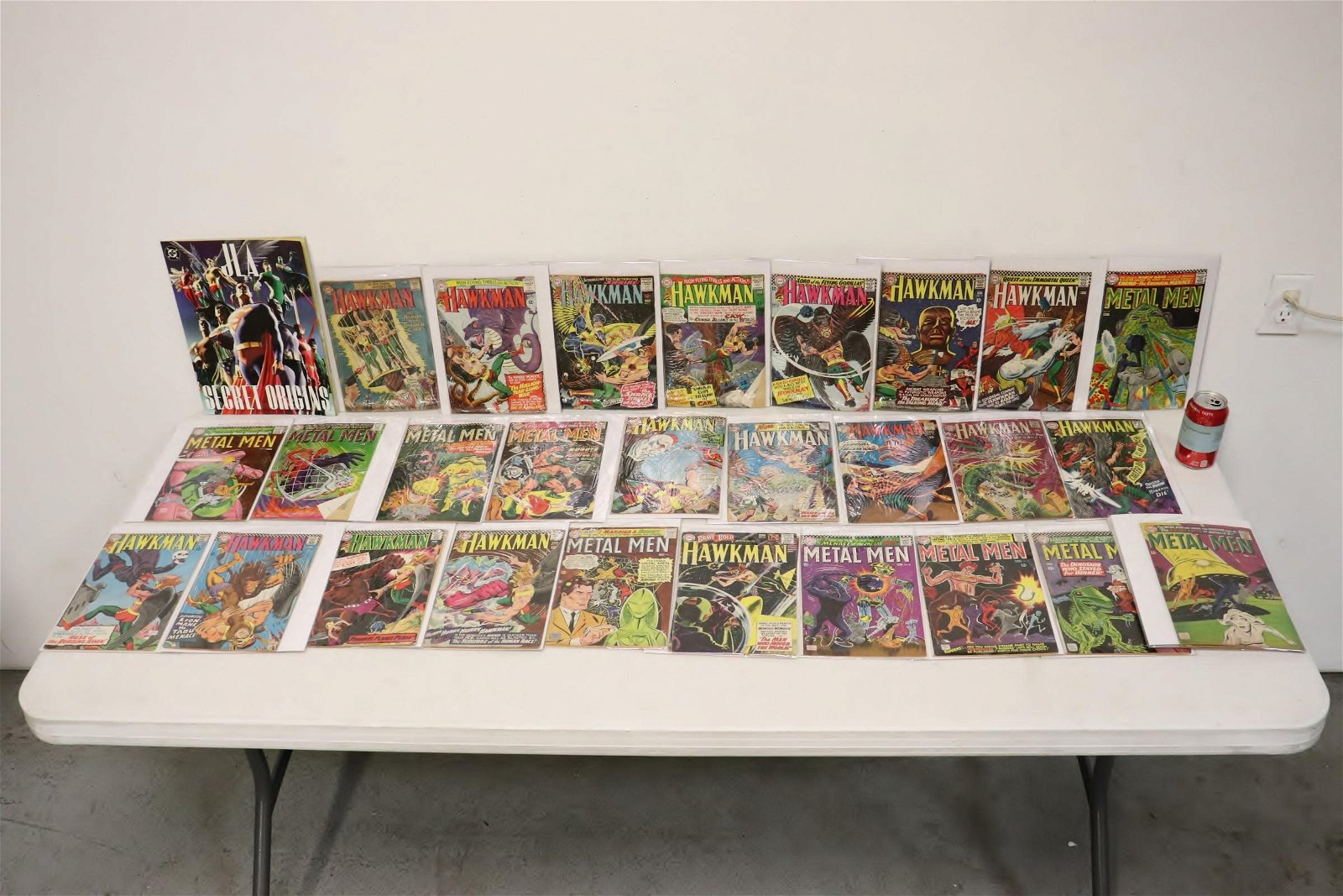 Approx. 28 early Hawkman and Metal Man comic book