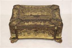 Chinese 19th c lacquer box