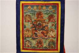 A very fine Tibetan hand painted thangka