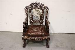 Chinese rosewood armchair with MOP inlaid