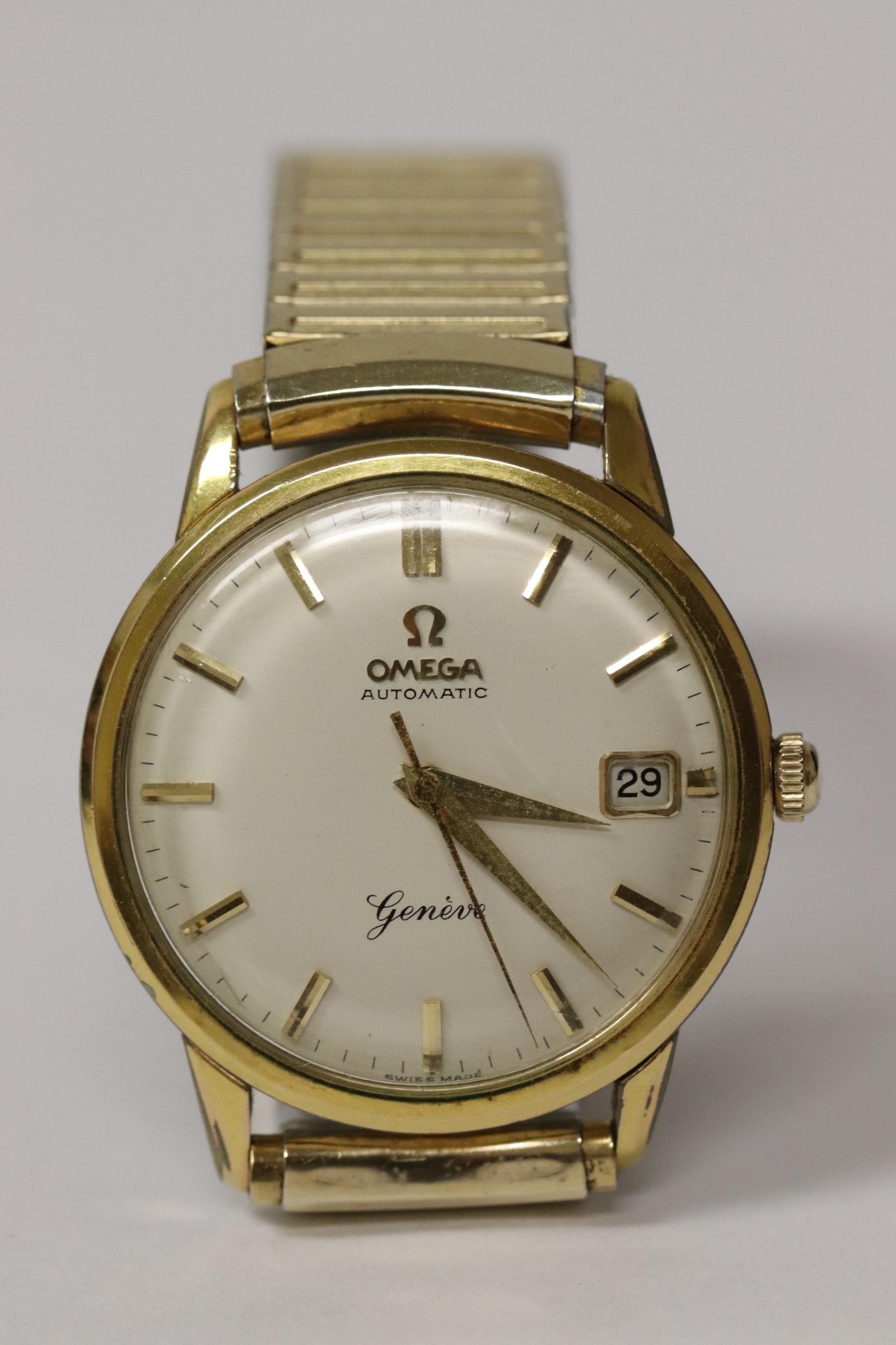 A fine Omega automatic wrist watch