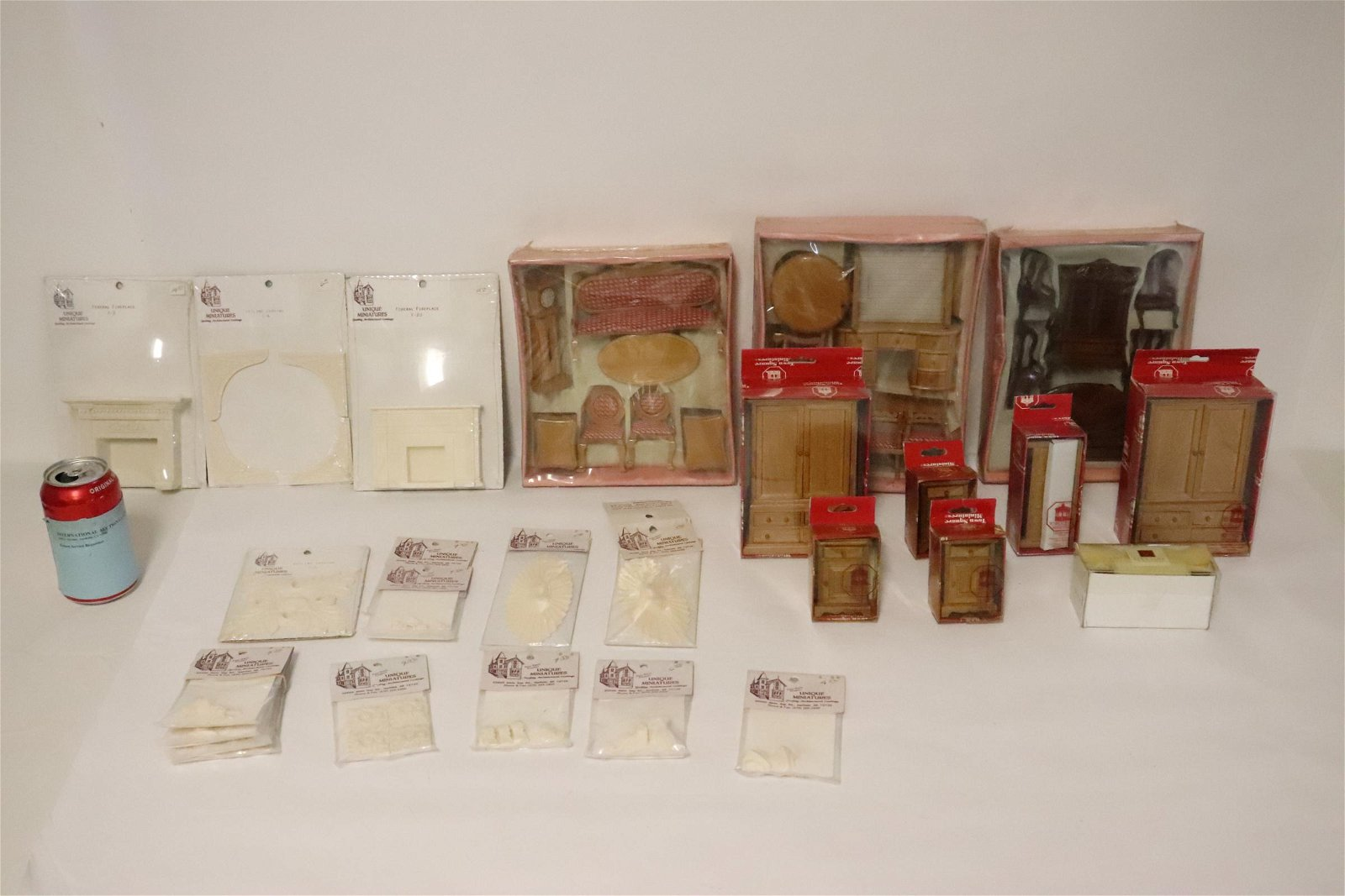 Lot of doll house furniture in original boxes