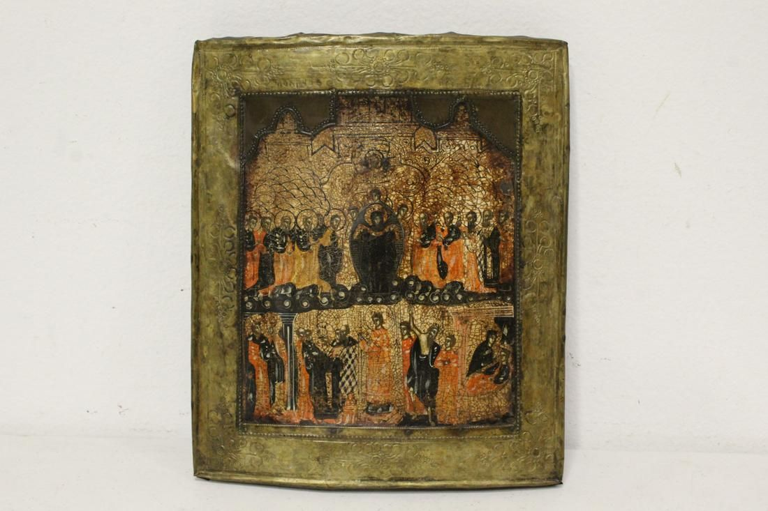 A 16th/17th c. Russian hand painted icon