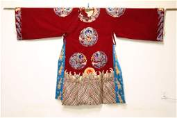 Chinese embroidery robe with dragon