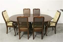 Very fine mahogany dining set