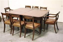A fine 19th century walnut dining set