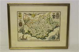 Vintage map of Mediterranean area(?)