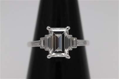 Platinum 2.09ct, D VVS2 diamond ring w/ GIA certificate