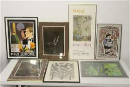 7 framed art pieces