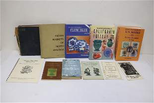 Lot of antique and collectible reference books