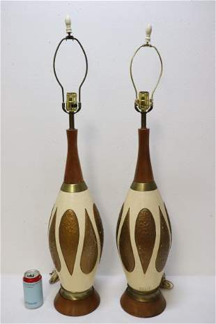 Pair 50's table lamps