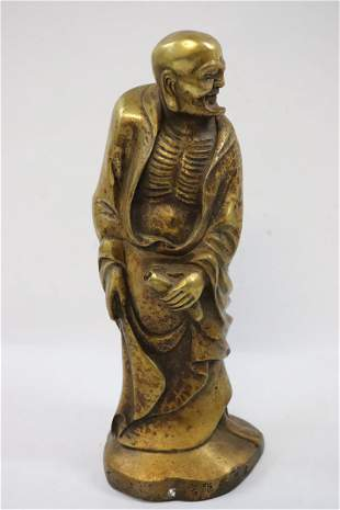 Chinese brass sculpture of Lohan