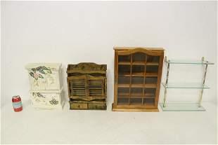 4 miniature shelves/ cabinet