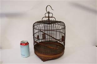 Chinese 19th/20th century bamboo bird cage