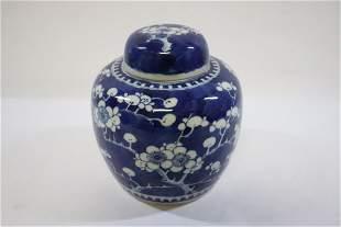 Chinese antique porcelain covered jar, Kangxi mark