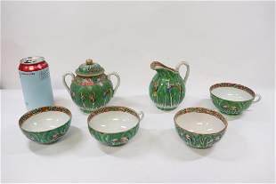 6 pieces Chinese antique famille rose porcelain
