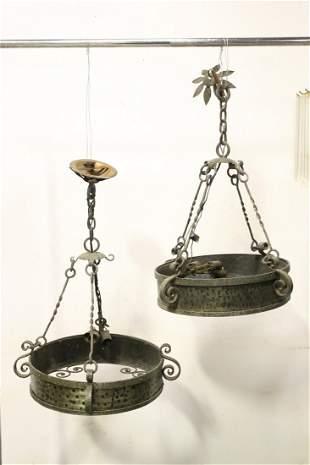 2 antique cast iron ceiling light