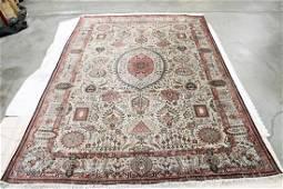 An important vintage Persian qum silk rug