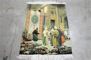 A fine Persian pictorial hanging rug