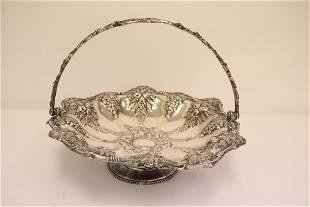Beautiful Victorian silverplate flower basket