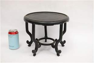 Chinese rosewood table top pedestal stand